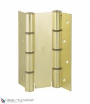 Дверная петля пружинная двусторонняя ALDEGHI 155x40 матовая латунь ALD130