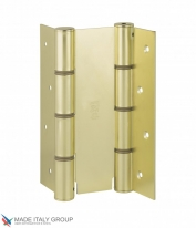 Дверная петля пружинная двусторонняя ALDEGHI 155x50 матовая латунь ALD138