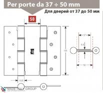 Дверная петля пружинная двусторонняя ALDEGHI 155x50 полированная латунь ALD145