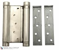 Дверная петля пружинная амортизирующая + тормоз ALDEGHI 125x42x48 мм никель ALD106