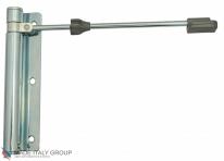 Доводчик дверной пружинный до 60кг ALDEGHI ГЕРКУЛЕС (170x39мм) белая оцинкованная сталь ALD083