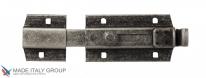 Задвижка дверная усиленная с отверствием для навесного замка ALDEGHI 150мм античное серебро ALD028