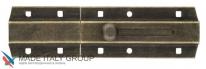 Задвижка дверная усиленная, плоский ригель ALDEGHI 150мм античная бронза ALD033