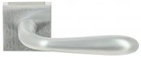 Ручка дверная на квадратной розетке Extreza Hi-tech ALDO 331 R11 матовый хром F05