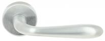 Ручка дверная на круглой розетке Extreza Hi-tech ALDO 331 R12 матовый хром F05