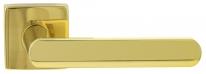Ручка дверная на квадратной розетке Extreza Hi-tech AQUA 113 R11 полированная латунь F01