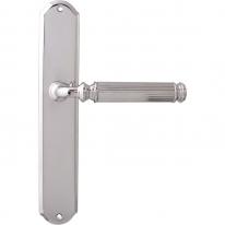 Дверная ручка на планке проходная Melodia 290/131 Pass RANIA полированный хром