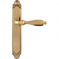 Дверная ручка на планке проходная 298/158 Pass CAMILLA ПОЛИРОВАННАЯ ЛАТУНЬ