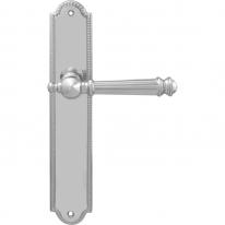 Ручка дверная на планке с фиксатором 102/458 VERONICA Wc ПОЛИРОВАННЫЙ ХРОМ