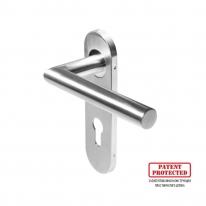 Ручка DOORLOCK 040KP/F PZ72 L-form Rt матовая нержавеющая сталь