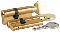 Цилиндровый механизм со звуковой сигнализацией c вертушкой 164 AS/85 (35+10+40) mm латунь 5 кл.