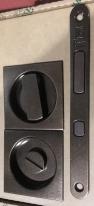 Комплект для раздвижных дверей Bonaiti WC (Механизм G500T H21 + ручки EASY QUADRO)