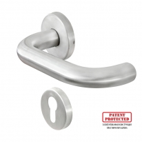 Ручка DOORLOCK 038/F-S9/55 PZ U-form Rt матовая нержавеющая сталь