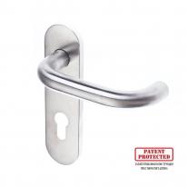 Ручка DOORLOCK 038KP/F-S9 PZ72 Rt матовая нержавеющая сталь